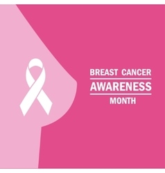 The poster on the theme month fight against breast vector image