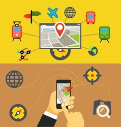 Transportation digital applications vector image vector image