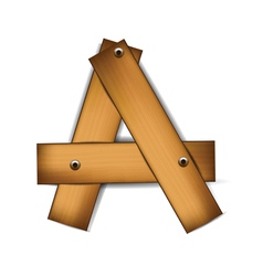 wooden type a vector image