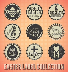 Vintage happy easter labels and badges vector