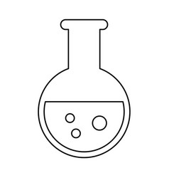 Test tube chemistry school line vector