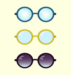 Colorful glasses set vector