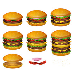 american burgers all size vector image