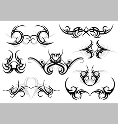 Tribal tattoo set vector