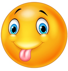 Cartoon silly face with out tongue vector image