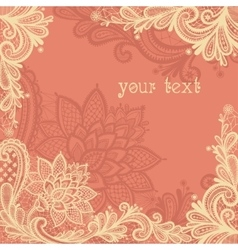 Lace background with a place for text vector