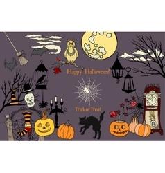 Colors HalloweenCard vector image