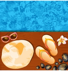 Relaxing resort background vector