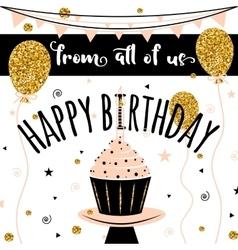 Happy Birthday card Happy Birthday vector image