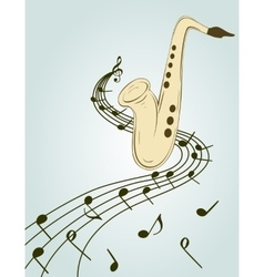 Stylish of saxophone vector