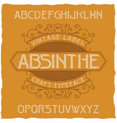 absinthe label font vector image vector image