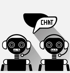 Chatbot service icon concept black chat bot or vector