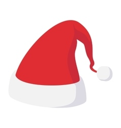 Christmas hat cartoon icon vector image