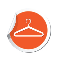 clothers simbol orange tag vector image vector image