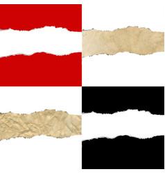 Color torn paper borders vector