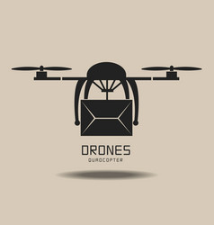 Drones delivery logo vector