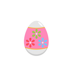 easter egg flat icon religion holiday elements vector image vector image