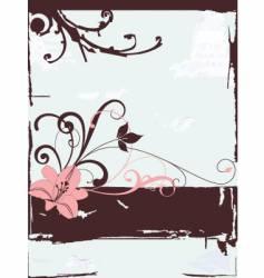 elegant flower vector image vector image