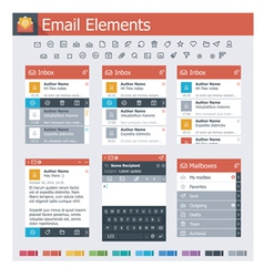 Email elements vector image