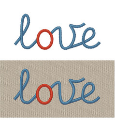 embroidered sign love vector image vector image