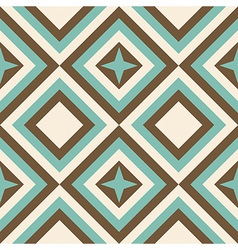 Fashion geometrical pattern in retro colors vector image vector image