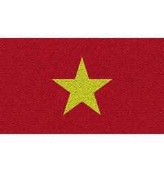 Flags Vietnam on denim texture vector image