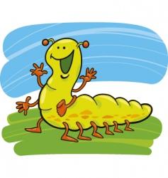 funny caterpillar vector image vector image