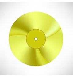 Gold disc vector