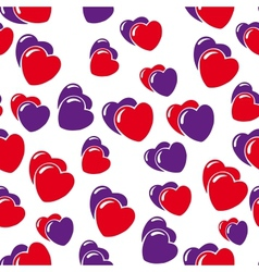 hearts background isolated on white vector image vector image