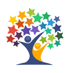 icon for star tree vector image