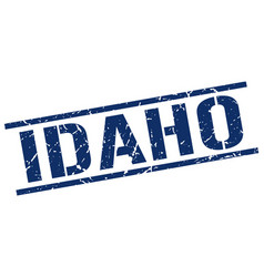 Idaho blue square stamp vector
