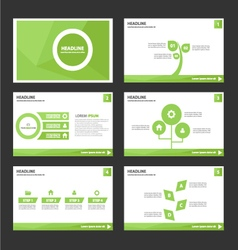 Leaf green presentation templates infographic vector