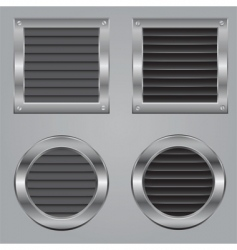 Metal cooling squares vector