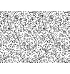 Ornamental floral seamless pattern for your design vector image vector image