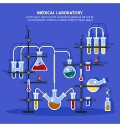 Pharmacy or medicine lab or laboratory with pipes vector