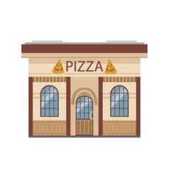 Pizza Restaurant Commercial Building Facade Design vector image vector image