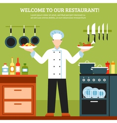 Professional cooking design composition vector