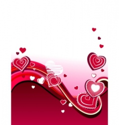red hearts on abstract background vector image