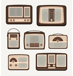 Retro technology radio vector image