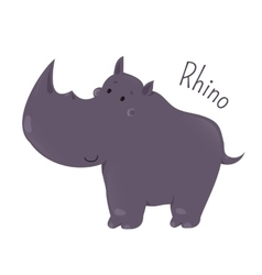 Rhino isolated Child fun pattern icon vector image