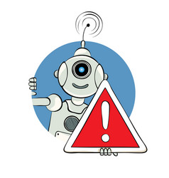 Robot and sign attention vector
