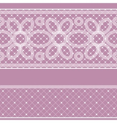 Seamless pattern with lace for design vector image vector image