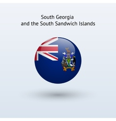 South Georgia and Sandwich Islands round flag vector image vector image