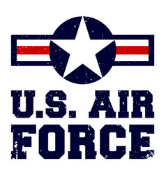 T-shirt print design us air force vintage vector