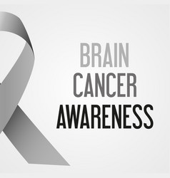 world brain cancer day awareness poster eps10 vector image vector image