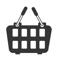 Icon basket buy market shop isolated vector