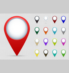 map pointers set vector image