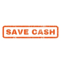 Save cash rubber stamp vector