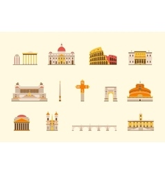Rome historical building vector