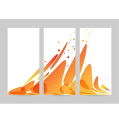 Orange abstract overflow set vector